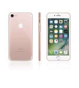 Bumper TPU Clear case iphone 7 - Rose Gold