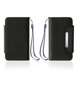 Detachable Lychee PU wallet Galaxy S6 edge - Black