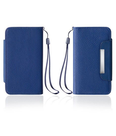 Detachable Lychee PU wallet Galaxy S6 edge - Blue