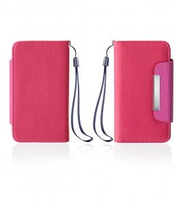 Detachable Lychee PU wallet Galaxy S6 edge - Hot Pink