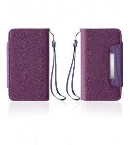 Detachable Lychee PU wallet Galaxy S6 edge - Purple