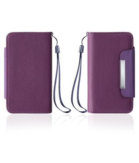 Detachable Lychee PU wallet Galaxy S6 edge - Purple