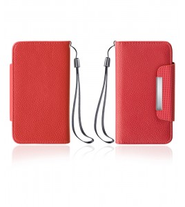 Detachable Lychee PU wallet Galaxy S6 edge - Red