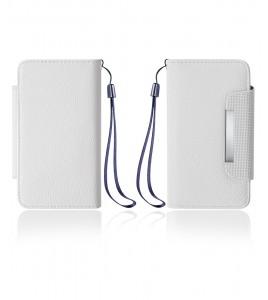 Detachable Lychee PU wallet Galaxy S6 edge - White