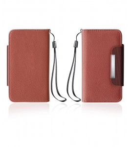Detachable Lychee PU wallet Galaxy S6 edge - Brown