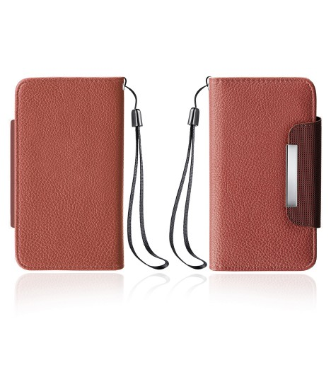 Detachable Lychee PU wallet Galaxy S6 edge - Brown