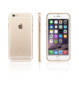 Chrome Hard Back Snap-On Case iphone 6/6S - Gold