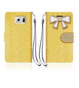 Diamond Bow Wallet Galaxy S6 edge - Gold