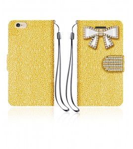Diamond Bow Wallet iphone 6/6S - Gold