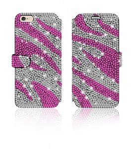 Crystal Diamante Wallets iPhone 6/6S - Pink
