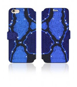 Crystal Diamante Wallets iPhone 6/6S - Blue
