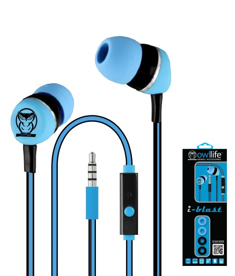 Owllife i-Blast Premium Headset - Light Blue