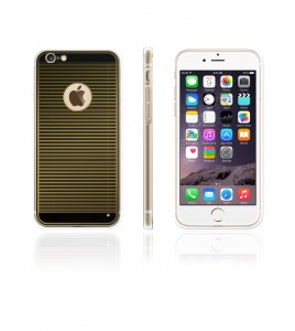 Gold TPU Case iPhone 6/6S - Black