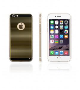 Gold TPU Case iPhone 6/6S - Black