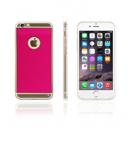 Gold TPU Case iPhone 6/6S - Hot Pink