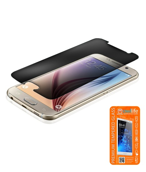 owllife Premium Tempered Glass privacy Galaxy S6