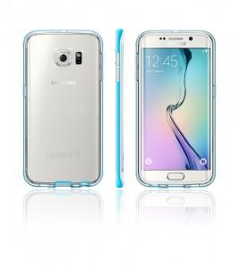 Detachable Bumper TPU Clear case Galaxy S6 edge - Light Blue