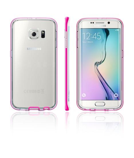 Detachable Bumper TPU Clear case Galaxy S6 edge - Pink