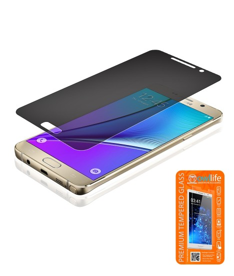 owllife Premium Tempered Glass privacy Galaxy Note 5
