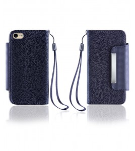 Lychee PU leather wallet iPhone 6/6S - Black