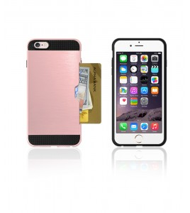 Metal Credit Case iphone 6/6S - Rose Gold