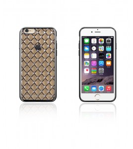 Quilted 3D Electroplated TPU Case iphone 6/6S - Black
