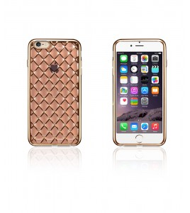 Quilted 3D Electroplated TPU Case iphone 6/6S - Gold