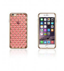Quilted 3D Electroplated TPU Case iphone 6/6S - Rose Gold