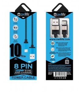 8PIN Sync/Charge 10ft Cable