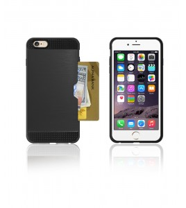 Metal Credit Case iphone 6/6S - Black