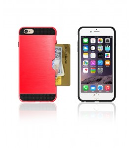 Metal Credit Case iphone 6/6S - Red