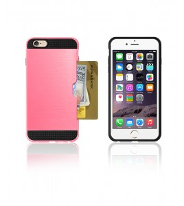 Metal Credit Case iphone 6/6S - Pink