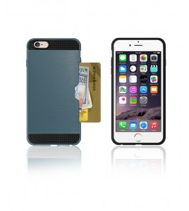 Metal Credit Case iphone 6/6S - Blue
