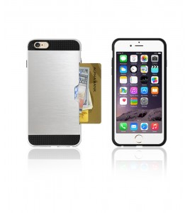 Metal Credit Case iphone 6/6S - Silver