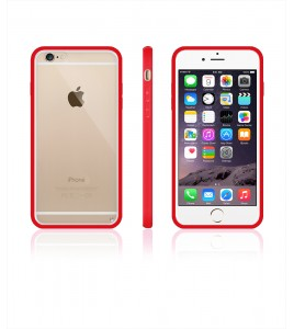 Clear Back Gummy Case iphone 6/6S - Red