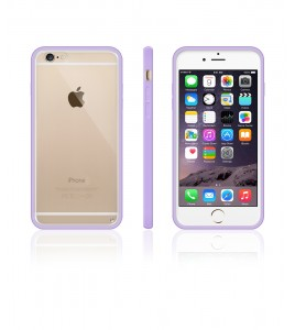 Clear Back Gummy Case iphone 6/6S - Purple