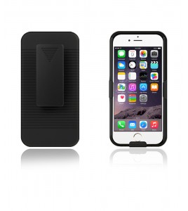 Holster Combo Case with Kick-Stand & Belt Clip iPhone 6 - Black