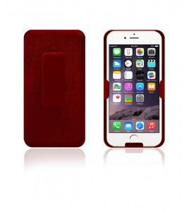 Holster Combo Case with Kick-Stand & Belt Clip iPhone 6 - Red