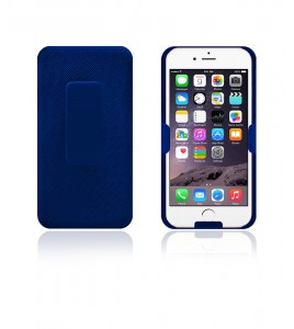 Holster Combo Case with Kick-Stand & Belt Clip iPhone 6 - Blue