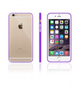 Detachable Bumper TPU Clear case iphone 6/6S - Purple