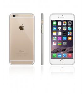 Detachable Bumper TPU Clear case iphone 6/6S - Silver
