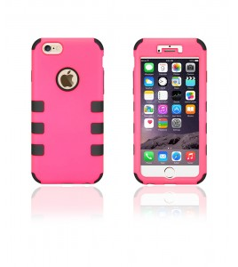 Hybrid Protector Cover iphone 6/6S - Hot Pink/Black
