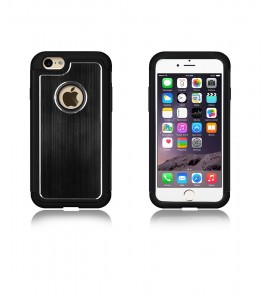 Metal Dual Protection iphone 6/6S - Black