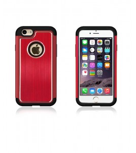 Metal Dual Protection iphone 6/6S - Red