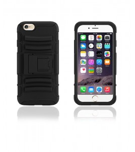 Rugged Hybrid Case Belt Clip Holster iphone 6/6S - Black