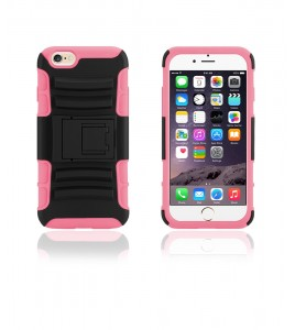 Rugged Hybrid Case Belt Clip Holster iphone 6/6S - Hot Pink