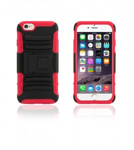 Rugged Hybrid Case Belt Clip Holster iphone 6/6S - Red