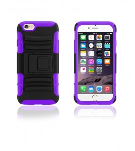 Rugged Hybrid Case Belt Clip Holster iphone 6/6S - Purple