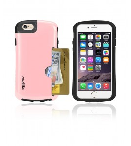 Owllife Credit Card Candy Case iphone 6/6S - Pink