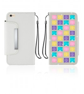 Diamond Wallet iphone 6/6S - White